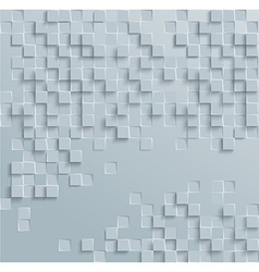 Abstract geometric shape from gray cubes White vector image vector image