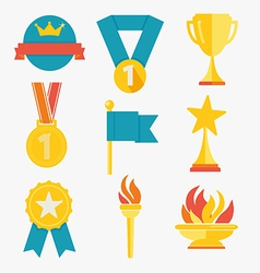 Award icons vector image vector image