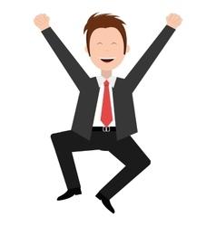 cheerful avatar man graphic vector image