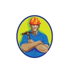 Construction worker foreman arms crossed wpa vector