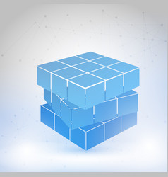 Cubic constructed of many blocks vector