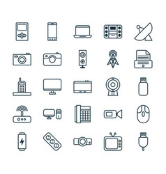 Device icons set collection of universal serial vector