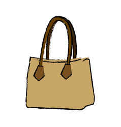 Drawing handbag elegant fashion female vector
