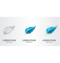 feather logo vector image