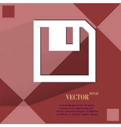 Floppy disk flat modern web design on a flat vector