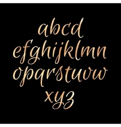 Golden glittering alphabet vector