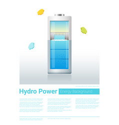 Green energy concept background with hydro energy vector