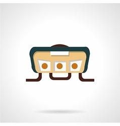 Handlebar panel flat icon vector image