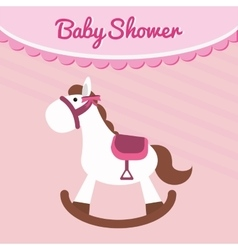 Horse of baby shower card design vector
