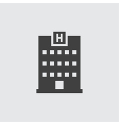 Hospital icon vector image