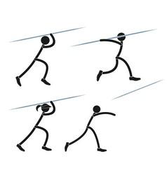 Javelin throwing vector