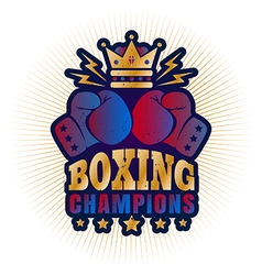 Kings boxing golden crown vector