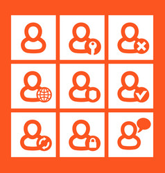 Login icons account log in pictograms vector