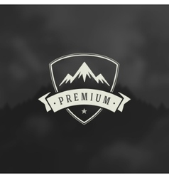Mountain design element in vintage style for vector