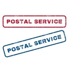 Postal service rubber stamps vector