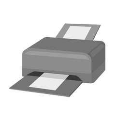 printer icon in monochrome style isolated on white vector image vector image