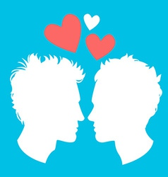 Profiles of two men homosexual couple vector image vector image