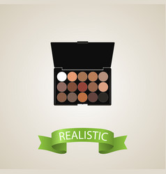 realistic eyeshadow set element vector image vector image