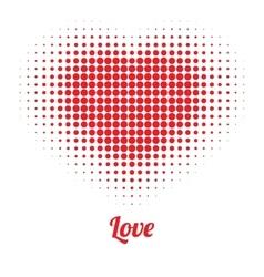 Red Heart Halftone logo vector image