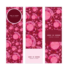 ruby vertical banners set pattern background vector image