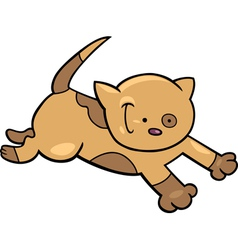 Running kitten vector