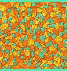 Seamless hand drawn abstract pattern with swirls vector