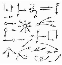 set of hand-drawn arrows vector image vector image