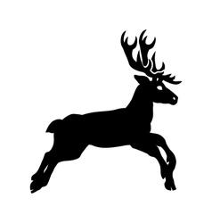 silhouette deer vector image vector image