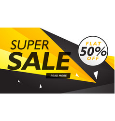 Super sale yellow and black voucher design vector