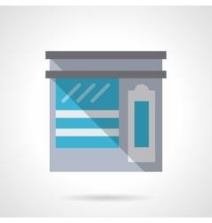 Tea shop facade flat color design icon vector image vector image