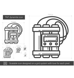 tnt dynamite line icon vector image