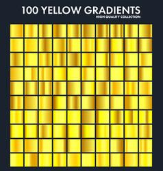 Yellow chrome gradient setpatterntemplatesun vector