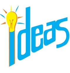Ideas light bulb vector