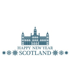 Happy New Year Scotland vector image