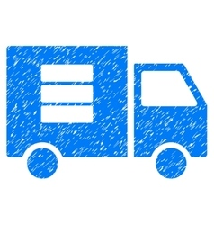 Data transfer van grainy texture icon vector