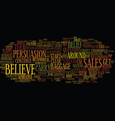The power of belief text background word cloud vector