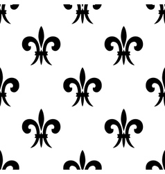 Repeat seamless pattern of fleur de lys vector