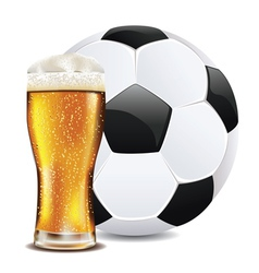 Beer and Soccer Ball2 vector image
