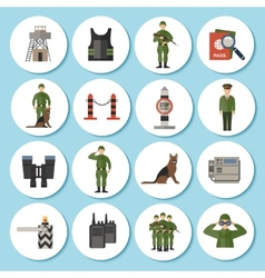 Border Guard Icon Flat vector image
