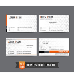 Business card template set 008 clear and minimal vector