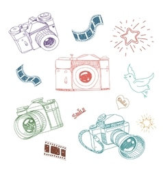 Camera and photography vector