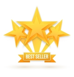 Best Seller Gold Star Background Five vector image