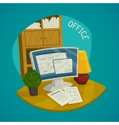 Office design concept set vector