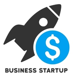 Business startup icon with caption vector