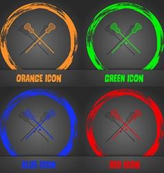 Lacrosse Sticks crossed icon Fashionable modern vector image