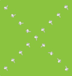 Garlic x sparse pattern vector