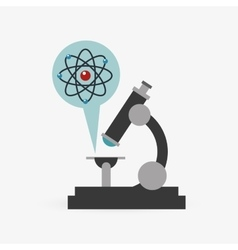 Colorful microscope design over white background vector