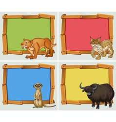 Frame design with wild animals vector