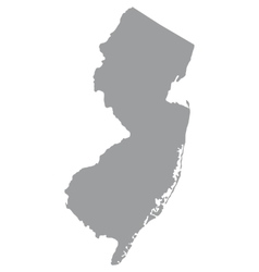 Us state of new jersey vector
