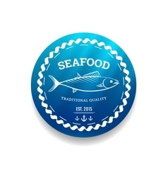 Fresh seafood label vector